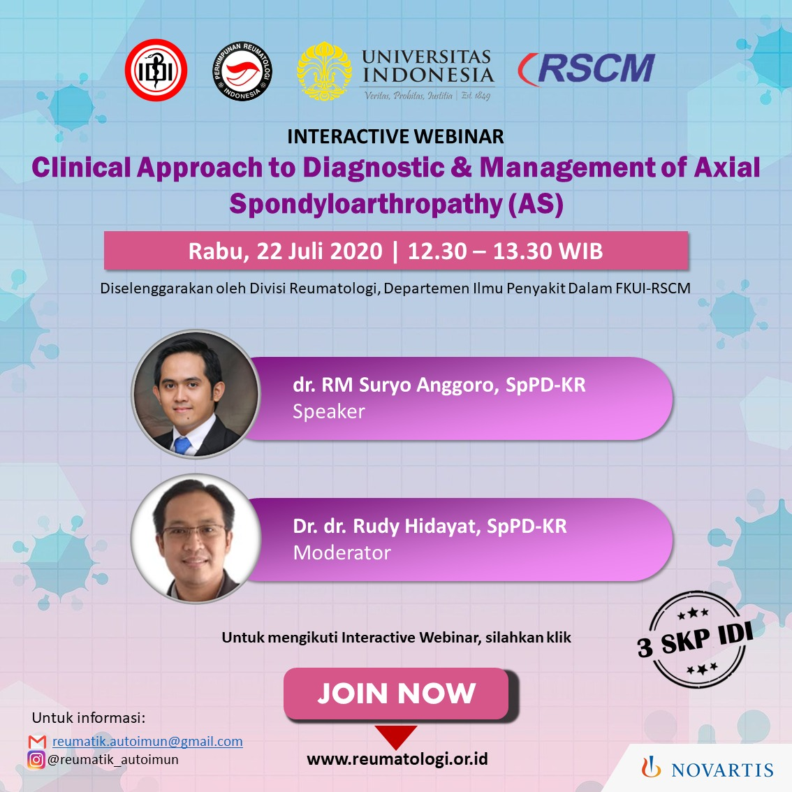 Registration of Clinical Approach to Diagnostic & Management of Axial Spondyloarthropathy (AS)