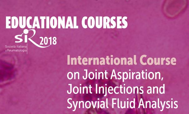 International Course on Joint Aspiration, Joint Injections and Synovial Fluid Analysis 2018 Venice, 7-8 november 2018