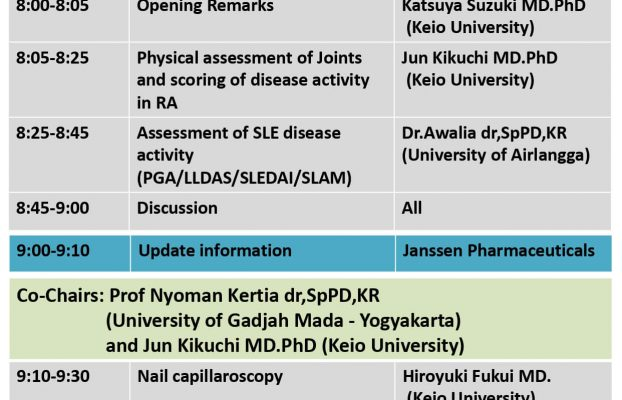 Webinar on Rheumatology – Assessment of Disease Activity