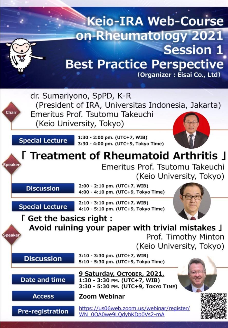 Keio-IRA Web-Course on Rheumatology Session 1 Best Practice Perspective