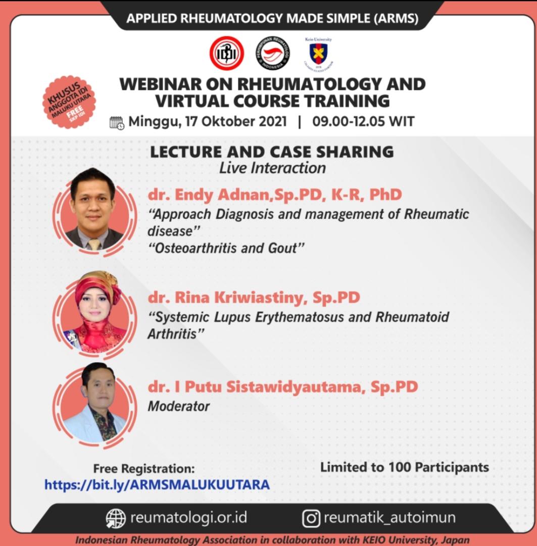 Webinar on Rheumatology and Virtual Course Training